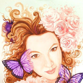 Портрет по фото в стиле фэнтези цветной на заказ акварель