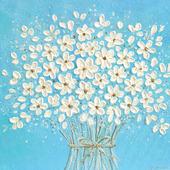 """Картина с цветами """"сНежный букет"""""""