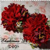 """Резинки """"Красные цветы 2"""""""