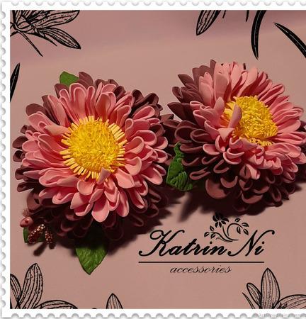 """Резиночки """"Яркие цветочки"""" ручной работы на заказ"""
