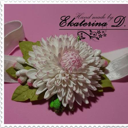 Повязочка с цветком 2 ручной работы на заказ