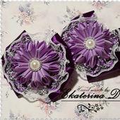 Резинки сиреневые с фиолетовым