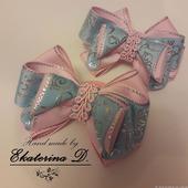 Бантики розово-голубые