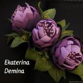 "Заколка"" Сиреневые цветы"""