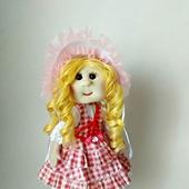 Кукла в платье  деревенского стиля