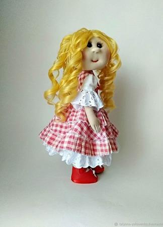 Кукла в платье  деревенского стиля ручной работы на заказ