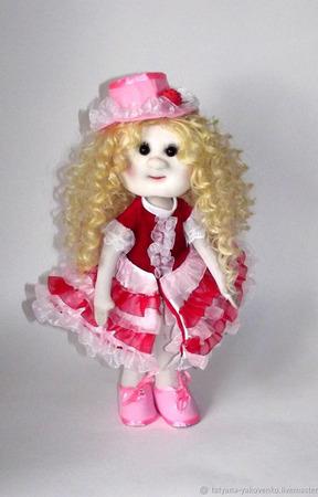 Кукла текстильная в костюме кардебалета ручной работы на заказ