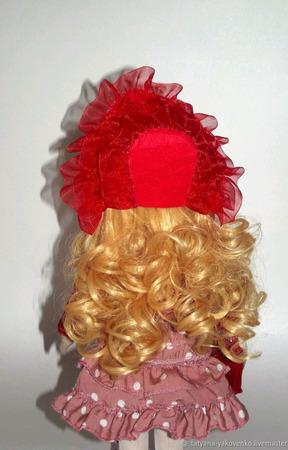Кукла текстильная ручной работы в платье в горошек ручной работы на заказ