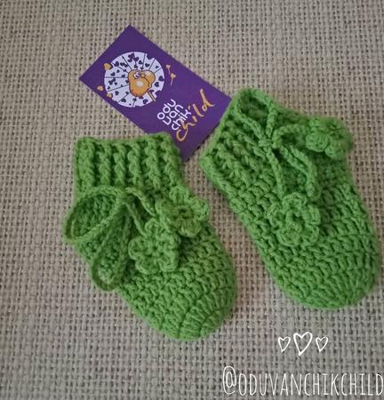 Носочки для новорождённых ручной работы на заказ