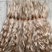 Окрашенные волосы для кукол: золотисто-русый (кудри, локоны)