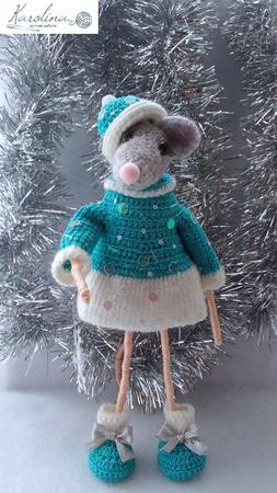 Крыска в костюме Снегурки ручной работы на заказ