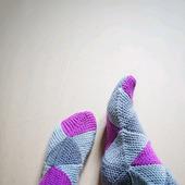 Вязаные носки из мериносовой шерсти