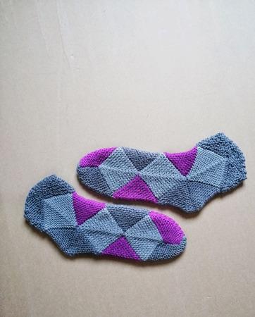 Вязаные носки из мериносовой шерсти ручной работы на заказ