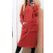 Теплое платье с высоким воротом