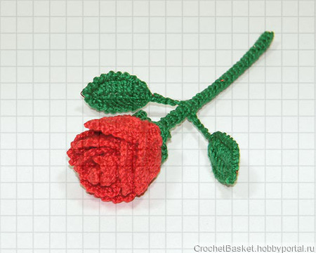 Корзина красных роз ручной работы на заказ