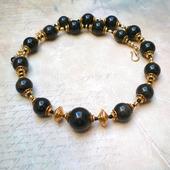 фото: Колье, бусы — украшения (черный золотой)