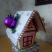 Сказочный новогодний домик с конфетами