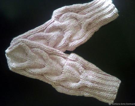 Носки вязаные косы ручной работы на заказ