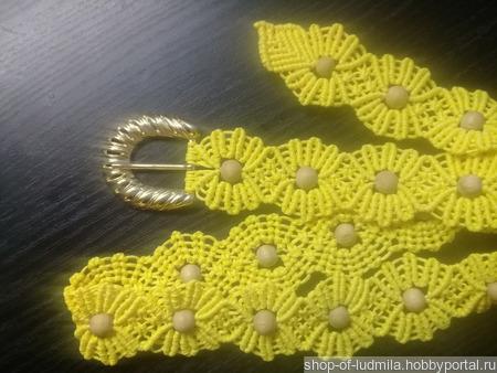 Пояс в технике макраме ручной работы на заказ