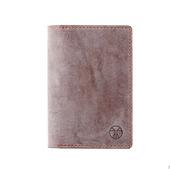 Кожаная обложка для паспорта Коричневый и синий