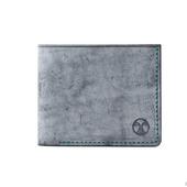 Кожаный кошелек бифолд Черный и зеленый