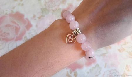 Браслет из розового кварца для привлечения любви ручной работы на заказ