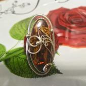 Кольцо с балтийским янтарем