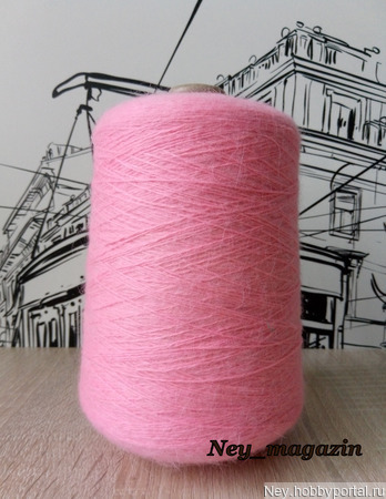 Пух норки (СТОК) ярко розовый ручной работы на заказ
