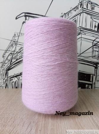 Пух норки (СТОК) розово-сиреневый ручной работы на заказ