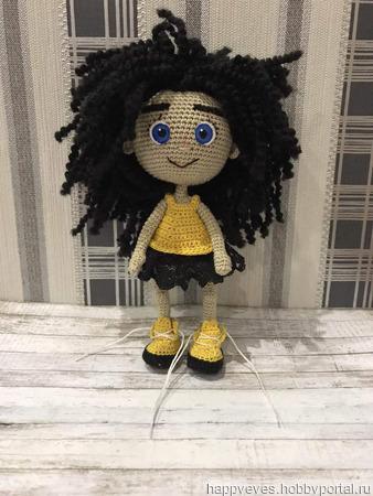 Кукла крючком Лилу ручной работы на заказ