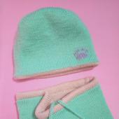 Комплект для девочки - шапочка и снуд
