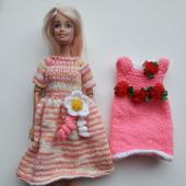 Вязаное платье для Барби.