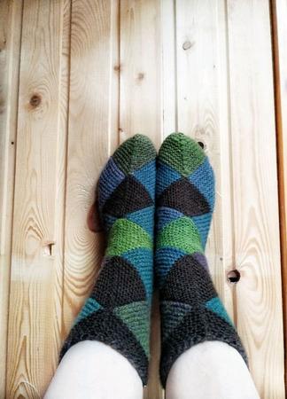 Носки из овечьей шерсти ручной работы на заказ
