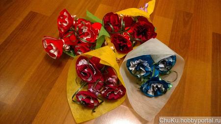 Букет из конфет ручной работы на заказ