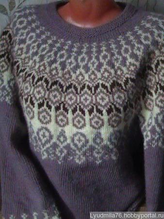 Свитер в стиле лопапейса ручной работы на заказ
