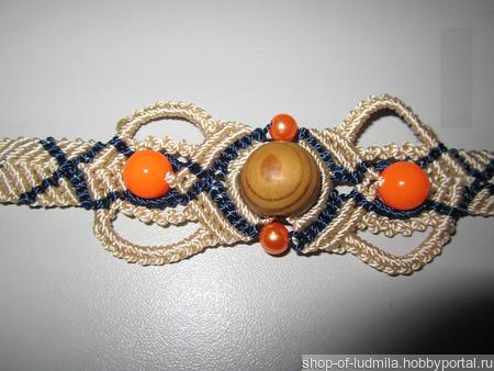 Комплект: браслет + серьги макраме ручной работы на заказ