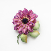 Украшение-брошь цветок малиновый марсала пурпурный из фоамирана