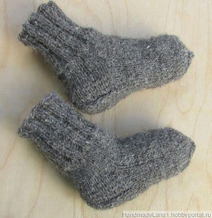 Носки детские вязаные спицами ручной работы на заказ
