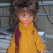Жаккардовое пальто для куклы