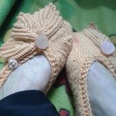 Носки-следки с украшением