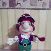 Игрушка вязаная Капитан пиратского корабля