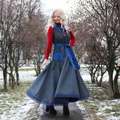 Платье в стиле бохо полушерстяное