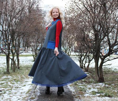 Платье в стиле бохо полушерстяное ручной работы на заказ