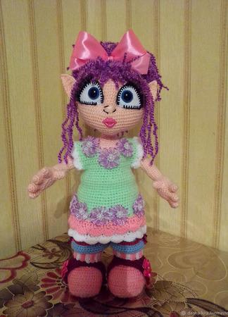 Вязаная кукла - Домовушка Эльфочка ручной работы на заказ