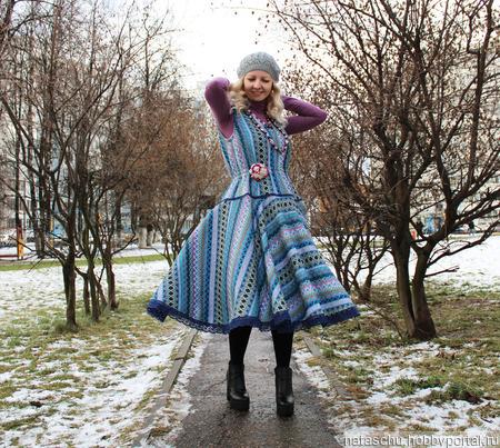 Зимний сарафан в стиле бохо ручной работы на заказ