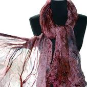Шелковый шарф широкий длинный женский