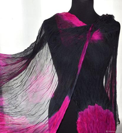 Шифоновый женский шарф ручной работы на заказ