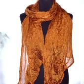 Шелковый шарф светло-медный