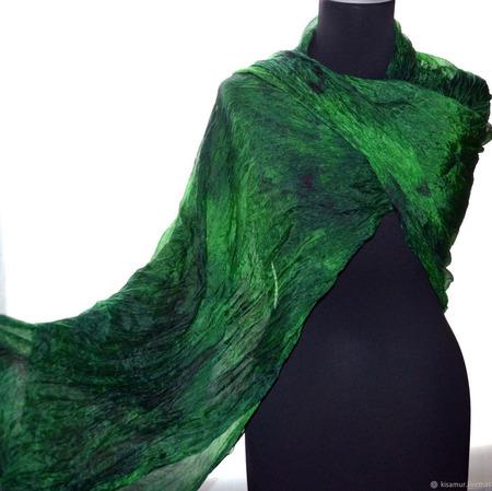 Шелковый шарф женский ручной работы на заказ