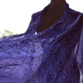 Шелковый шарф синий женский